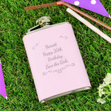 Personalised Ornate 'Any Message' Hip Flask
