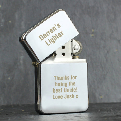Personalised 'Any Message' Silver lighter