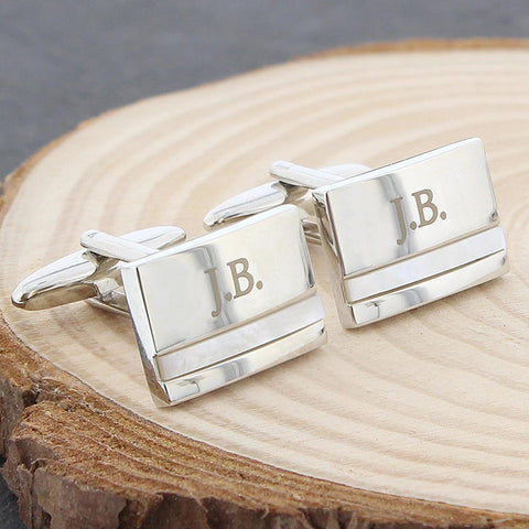 Personalised Mother of Pearl Cuff-links