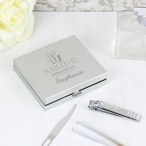 Personalised 'Nailed It' Manicure Set