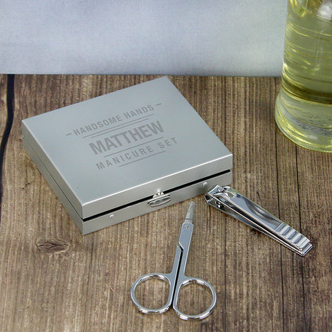 Personalised 'HANDSOME HANDS' Manicure Set