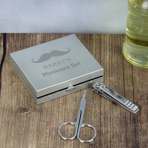 Personalised Moustache 'MANICURE SET'