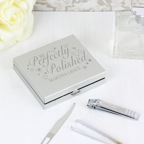 Personalised 'Be Perfectly Polished' manicure set