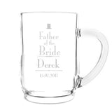 Personalised Decorative 'Father Of The Bride' Tankard