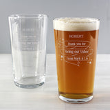 Personalised Shining Star 'Any Message' Pint Glass