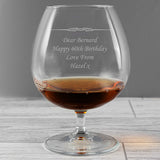 Personalised Decorative 'Any Message' Brandy Glass