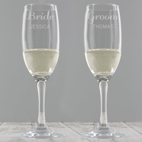 Personalised Classic 'Any Message' Pair of Flutes