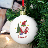 Personalised Tartan Santa Bauble