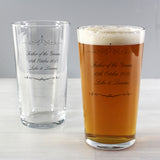 Personalised Ornate Swirl 'Any Message' Pint Glass
