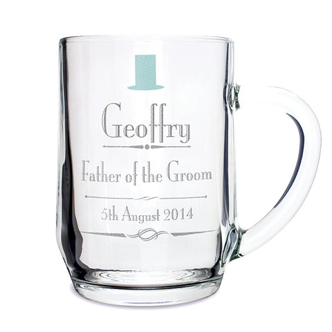 Personalised Decorative 'Any Message' Wedding Tankard