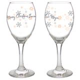 Personalised Snowflake Wine Glass