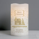 Personalised Festive Village LED Candle