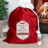 Personalised Special Delivery Luxury Sack