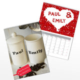 Personalised Couples A4 Wall Calendar