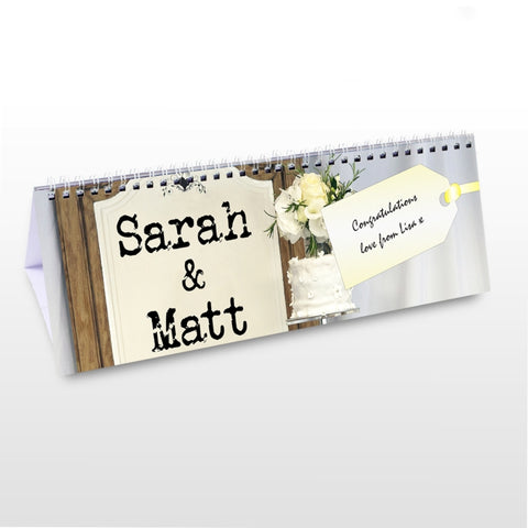 Personalised Just Married Desk Calendar