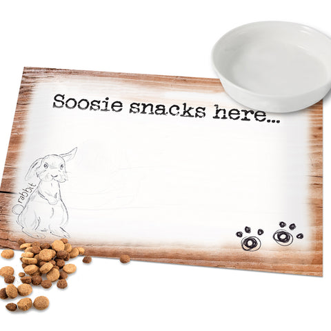 Personalised Scribble Rabbit Placemat