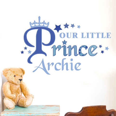 Personalised 'Our Little Prince' Wall Art