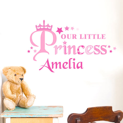 Personalised 'Our Little Princess' Wall Art