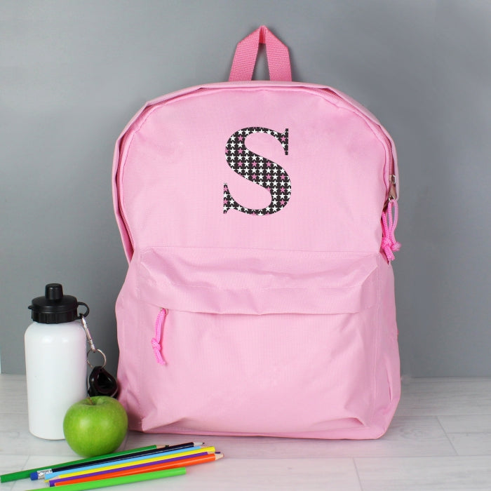 7484dc18ac Personalised Star Initial Blue Pink Backpack - Gift That Feeling