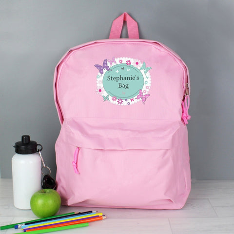 Personalised Butterfly Backpack