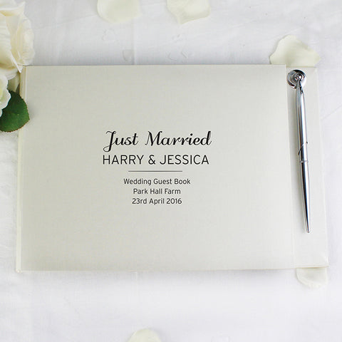 Personalised Classic 'AnyMessage' Guest Book & Pen