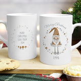 Personalised Christmas Gnome Mug