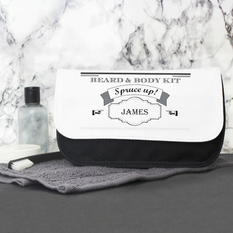 Personalised 'Spruce Up' Men's Wash Bag
