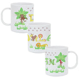 Personalised Animal Alphabet Boys Plastic Cup