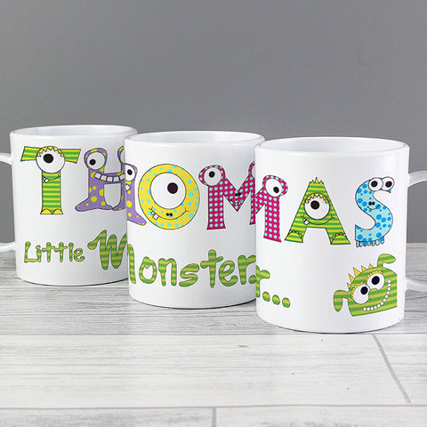Personalised Monster Alphabet Plastic Mug
