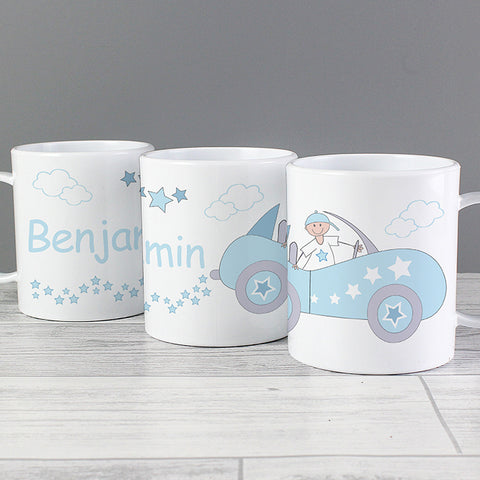 Personalised Cool Boy Car Plastic Mug