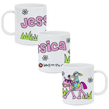 Personalised Bang on the Door Pony Plastic Mug