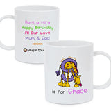 Personalised Bang On The Door Animal Alphabet Girls Plastic Cup