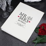 Personalised 'Mr And Mrs' Album with Sleeves