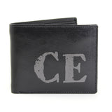 Personalised Rustic Initials Leather Wallet