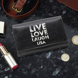 Personalised 'Live Laugh Love' Purse
