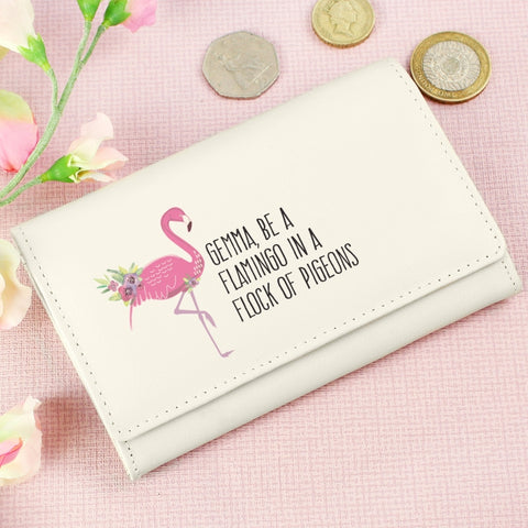 Personalised Flamingo Purse