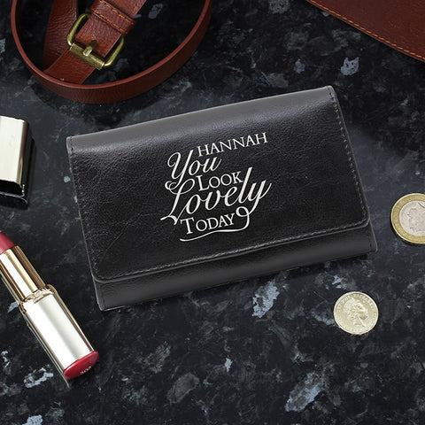 Personalised 'You Look Lovely' Purse