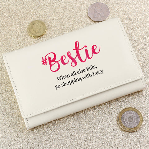 Personalised '#Bestie' Purse