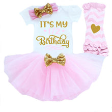 4 Piece Birthday Set - 1/2 Birthday Pink
