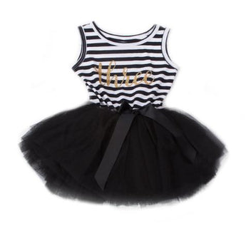 3 Year Birthday Sleeveless Dress - Black