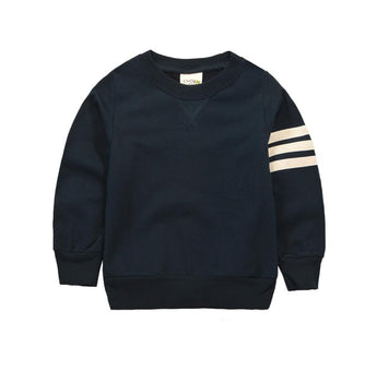 Blue Striped Sleeve Pullover