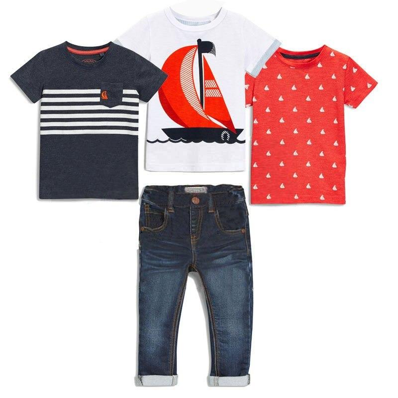 4 Piece Boat Shirt and Jeans Set