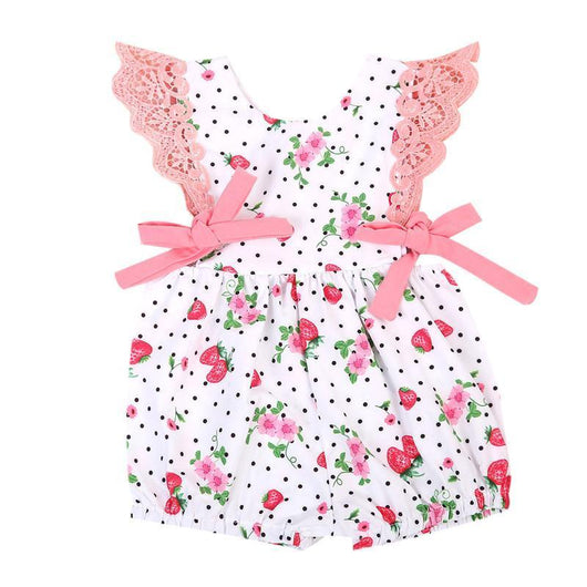 Strawberry Romper Bundle Set