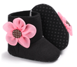 Flower Boots - Black