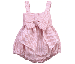 Baby Pink Bow Romper