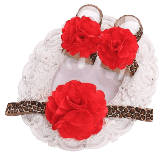 Leopard Rose Headband & Barefoot Sandals