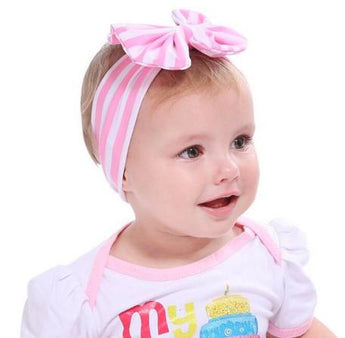 Striped Bow Headband