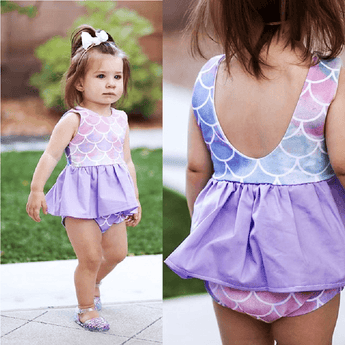 Mermaid Ruffle Top & Bloomers