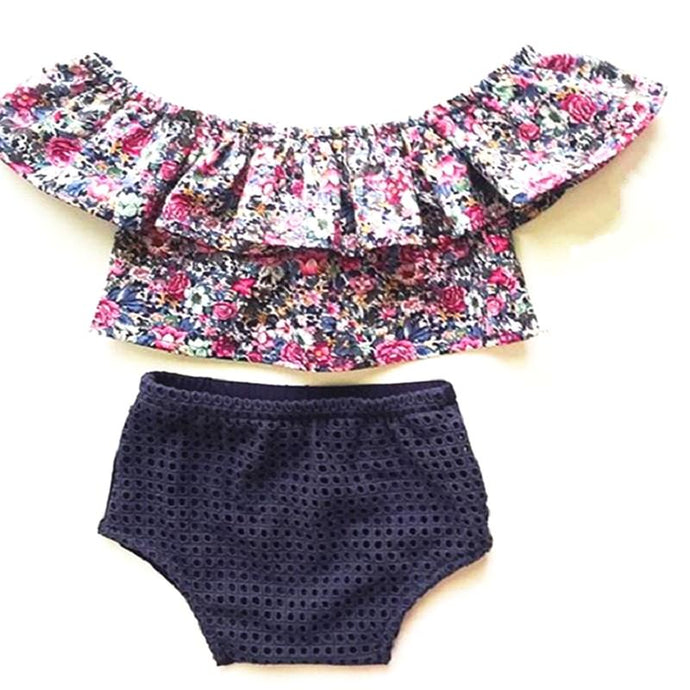 Floral Top & Bloomers