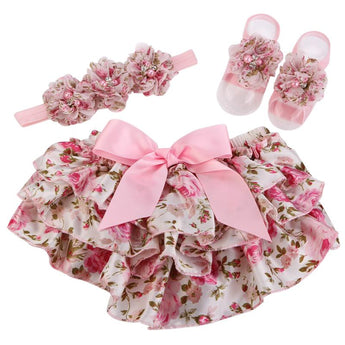 Bloomers, Headband & Barefoot Sandals